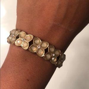 """Gold """"rhinestone"""" bracelet"""